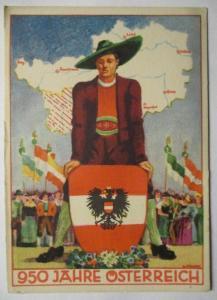 950 Jahre Österreich, Sonderkarte (8000)