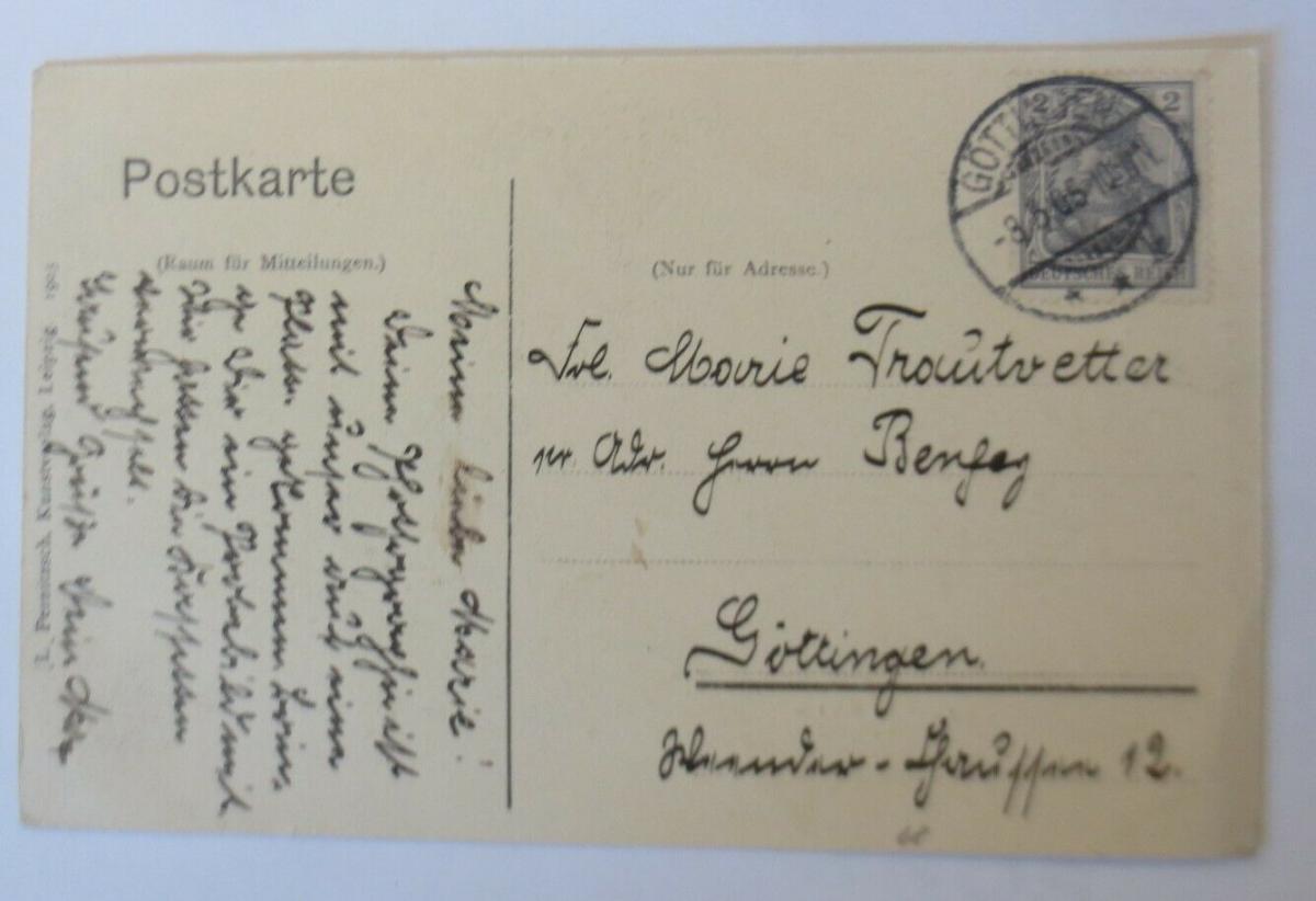Künstlerkarte, Charlotte und Friedrich Schiller  Biedermeier, 1905 ♥ (41245) 1