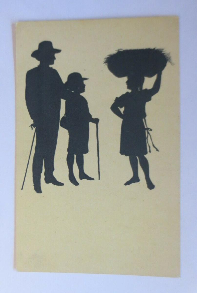 Künstlerkarte, Scherenschnitt, 1920, Paul Konewka  ♥ (60255) 0