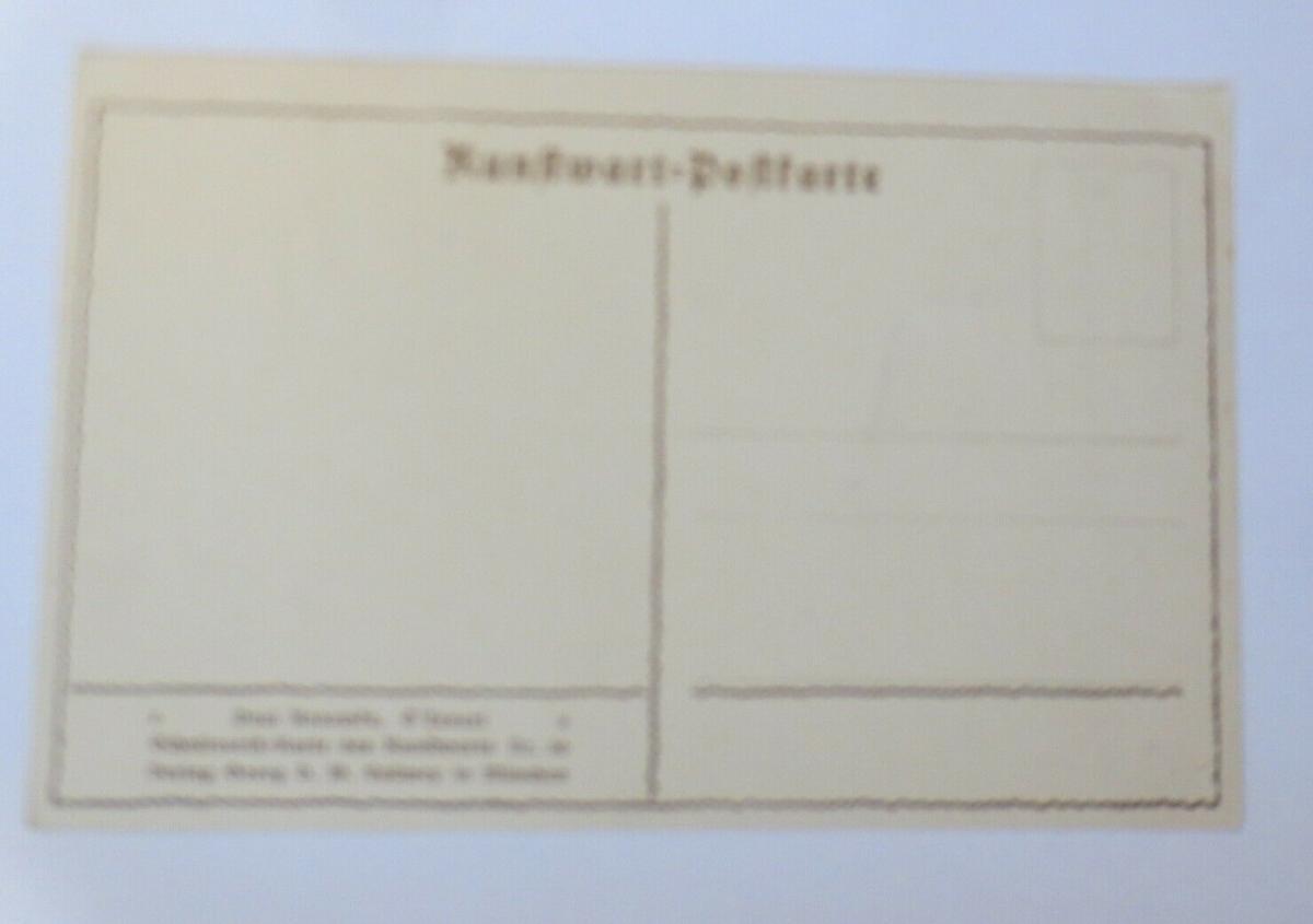 Künstlerkarte, Scherenschnitt, 1920, Paul Konewka  ♥ (60255) 1