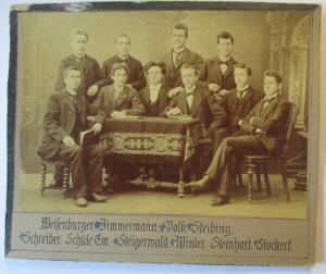 Junge Männer, original Foto 14x10 cm auf Pappe ca. 1900 (44759)