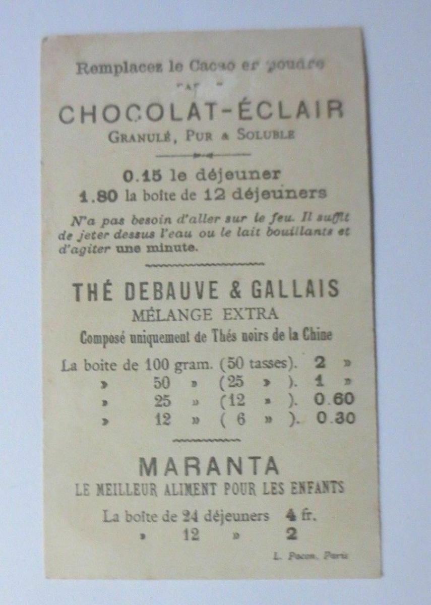 Kaufmannsbilder, Chocolat-Eclair, Personifiziert Maikäfer, Hochzeit,1889♥ 1