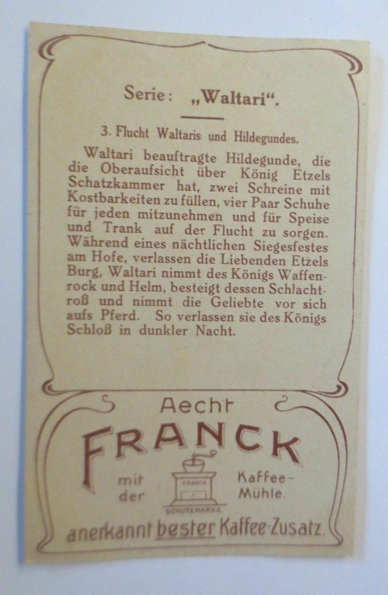 Kaufmannsbilder,  Aecht Franck Kaffee, Serie Waltari, Nr.3   ♥ 1