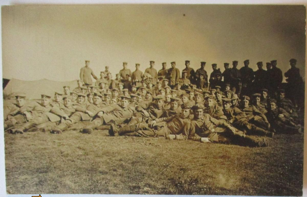 Scharfschützen Sniper, III. Ersatz Komp. Fotokarte mit Text 1916 (19285) 0