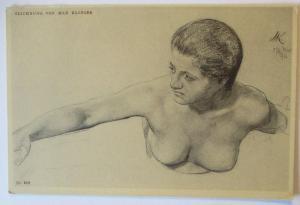 Erotik Künstlerkarte Max Klinger, Verlag Seemann in Leipzig (40117)