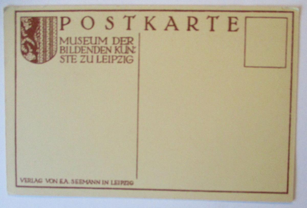 Erotik Künstlerkarte Max Klinger, Verlag Seemann in Leipzig (40117) 1