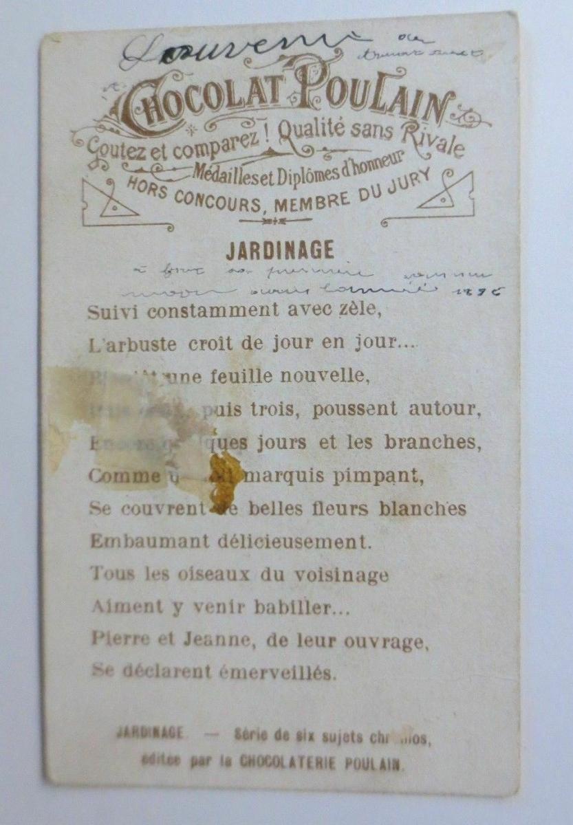 Kaufmannsbilder, Chocolat Poulain, Kinder aus dem Jahr 1896 ♥ 1