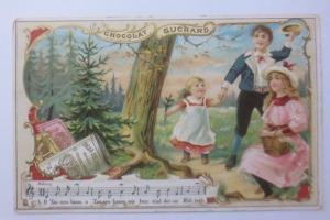 Kaufmannsbilder, Chocolat Ph. Suchard, Kinder Lied, O Tannenbaum  1910 ♥
