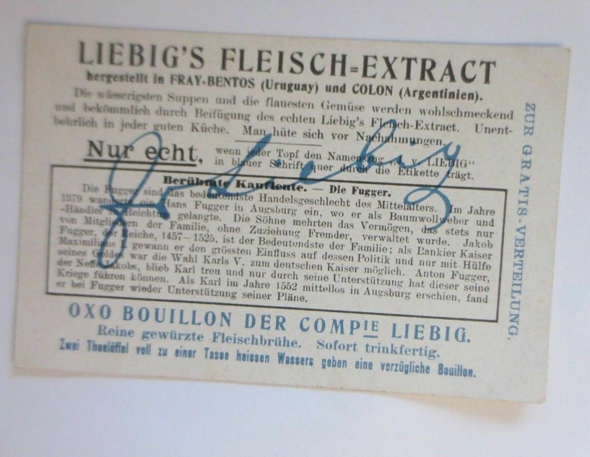 Liebig, Berühmte Kaufleute, Karl V. und Anton Fugger, Bild 3 ♥ 1