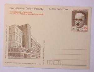Polen Sonderganzsache   Weltposttag  1988  ♥  (71664)