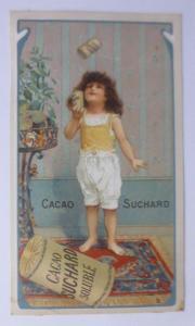 Kaufmannsbilder, Cacao Suchard Soluble, Kinder, Spielen  1910 ♥