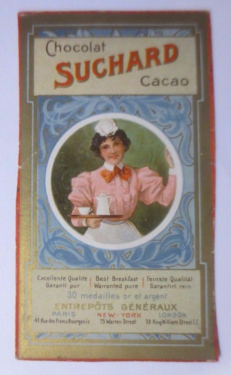 Kaufmannsbilder, Chocolat PH. Suchard,  Bedienung Kaffee  1910 ♥ 0