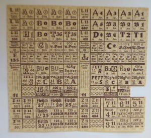 Lebensmittelkarten, Stadt Stuttgart  Brot, Fleisch, Butter, Fett, 1920 ♥ (X172)