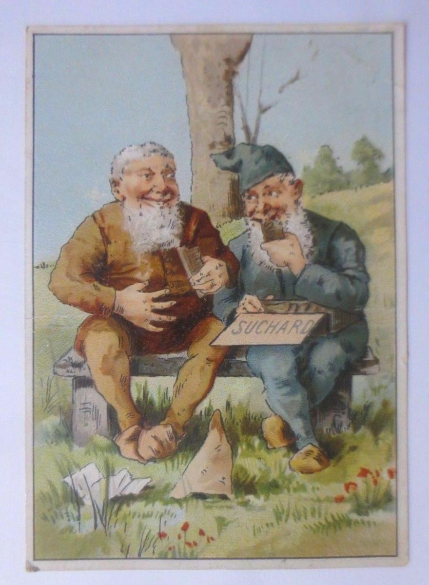 Kaufmannsbilder, Chocolat PH. Suchard,   Zwerge  1910 ♥ 0