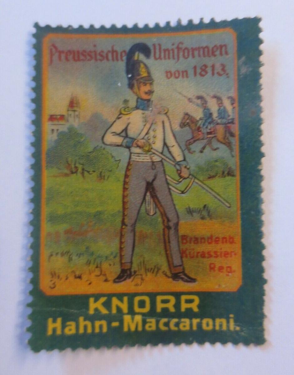 Vignetten Preußische Uniformen von 1813  Knorr Hahn-Maccaroni 1900 ♥ (13097) 0