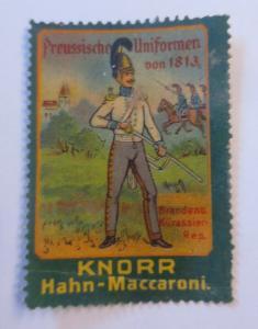 Vignetten Preußische Uniformen von 1813  Knorr Hahn-Maccaroni 1900 ♥ (13097)