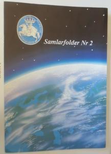 Schweden Folder Europa 91-Rymden Weltraum Phasendrucke Schwarzdruck-Buntdruck♥