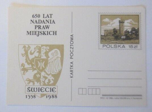 Polen Sonderganzsache  650 Jahre kommunale Rechte 1988 ♥ (71641) 0