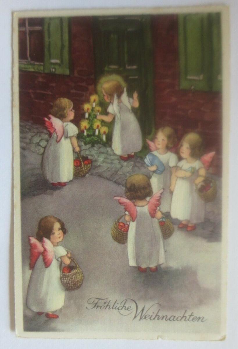 Weihnachten, Engel, Weihnachtsbaum, Geschenke,1930, Hannes Petersen ♥ (30922) 0