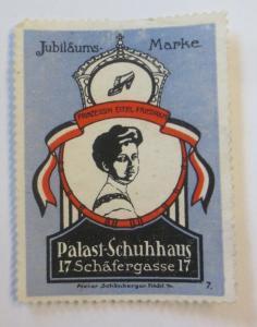 Vignetten Jubläums-Marke Palast-Schuhhaus Frankfurt a. M.   1900 ♥ (9661)