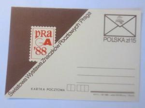 Polen Sonderganzsache  Weltausstellung der Briefmarken Prag 1988  ♥  (71635)