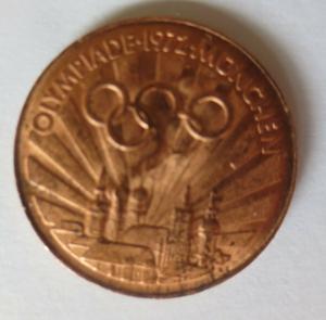 Medaille Olympiade 1972 München  Diskuswerfer Deutschland ♥ (21649)