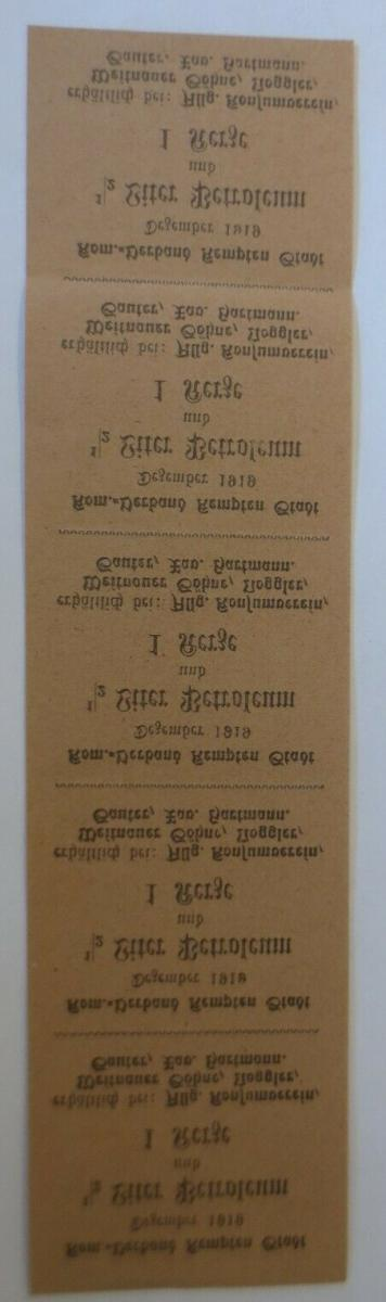 Lebensmittelkarten, Stadt Kempten Petroleum, Kerzen,  1919 ♥(X166) 1