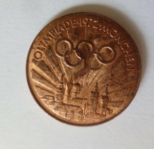 Medaille Olympiade 1972 München  Diskuswerfer Deutschland ♥ (21645)