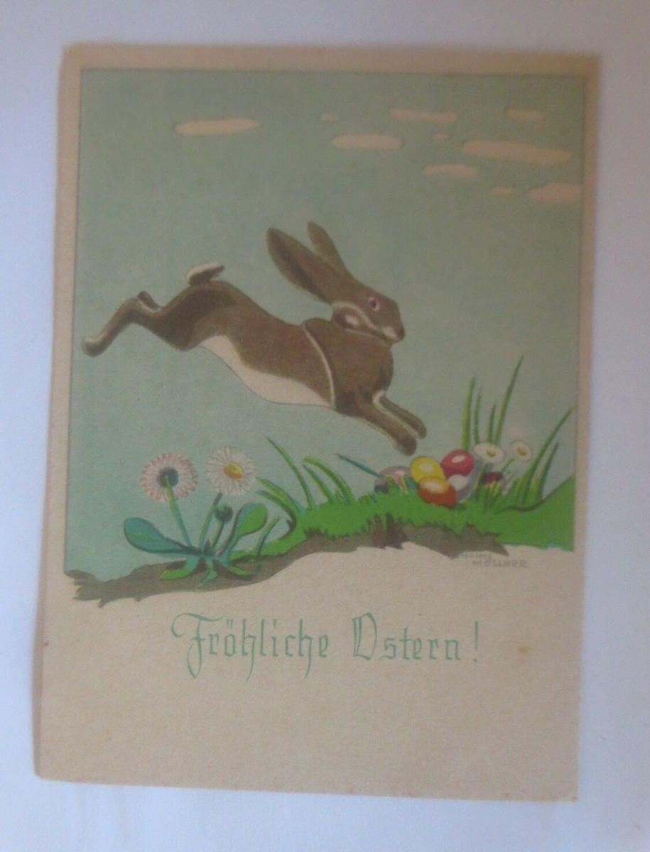 Ostern, Winterlandschaft, Hase, Ostereier,  1940, Hanns Müllner ♥ (70835) 0