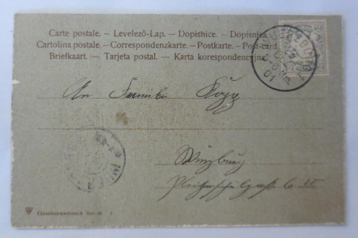 Weihnachten, Tannenzweig, Lebkuchen, 1901 ♥ (50976) 1