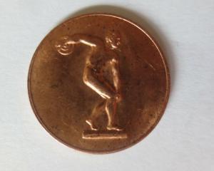 Medaille Olympiade 1972 München  Diskuswerfer Deutschland ♥ (21481)