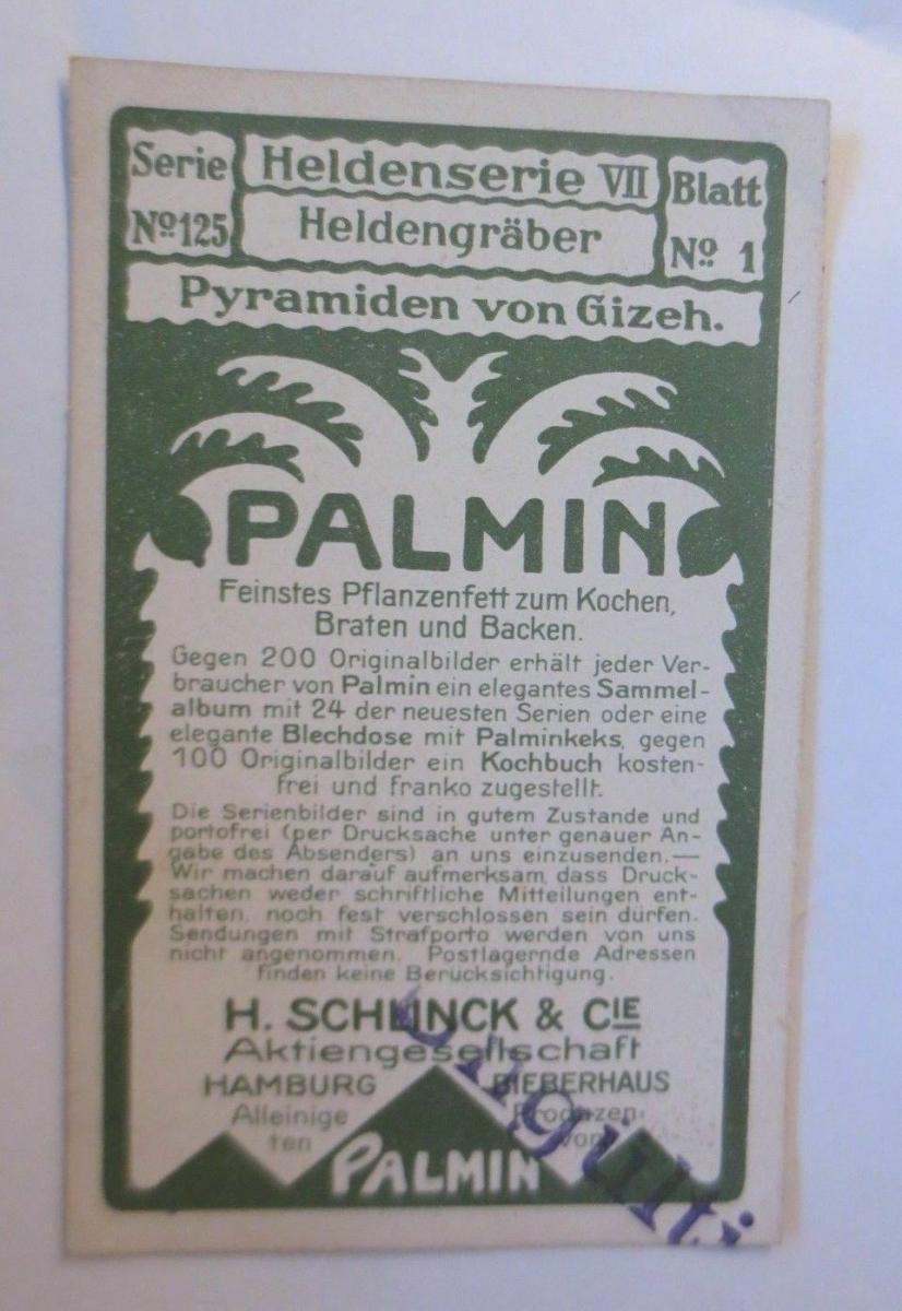Palmin,  Serie 125, Bild 1, Heldenserie VII. Heldengräber ♥ 1