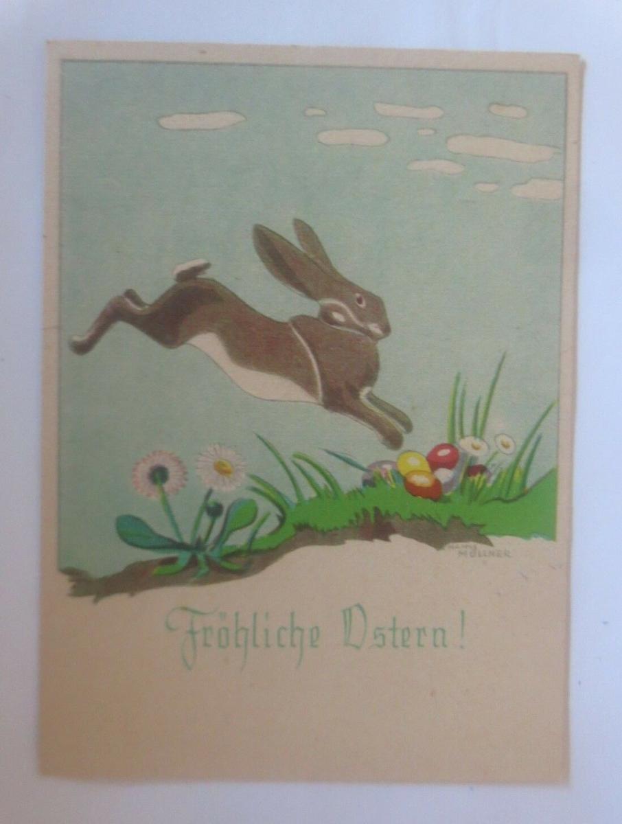 Ostern, Winterlandschaft, Hase, Ostereier,  1940, Hanns Müllner ♥ (70834) 0