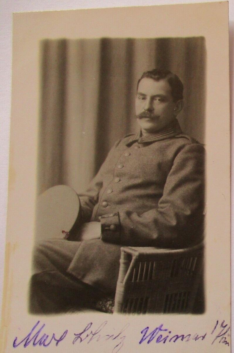 Deutscher Soldat, Fotokarte Photo Schöniger in Weimar (44104) 0