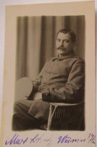 Deutscher Soldat, Fotokarte Photo Schöniger in Weimar (44104)