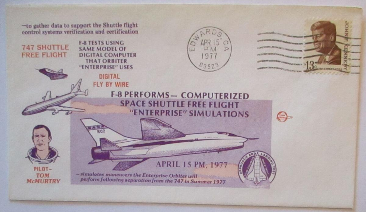 Raumfahrt USA NASA Space Shuttle F 8 Computerized Free Flight 1977 (25826) 0