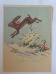 Ostern, Winterlandschaft, Hase, Ostereier,  1940, Hanns Müllner ♥ (70832)