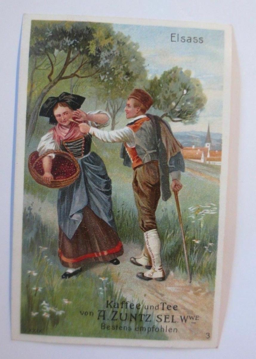 Kaufmannsbilder, A. Zuntz Sel. Kaffee, Tee, Elsass, Bild 1, S.29  ♥ 0