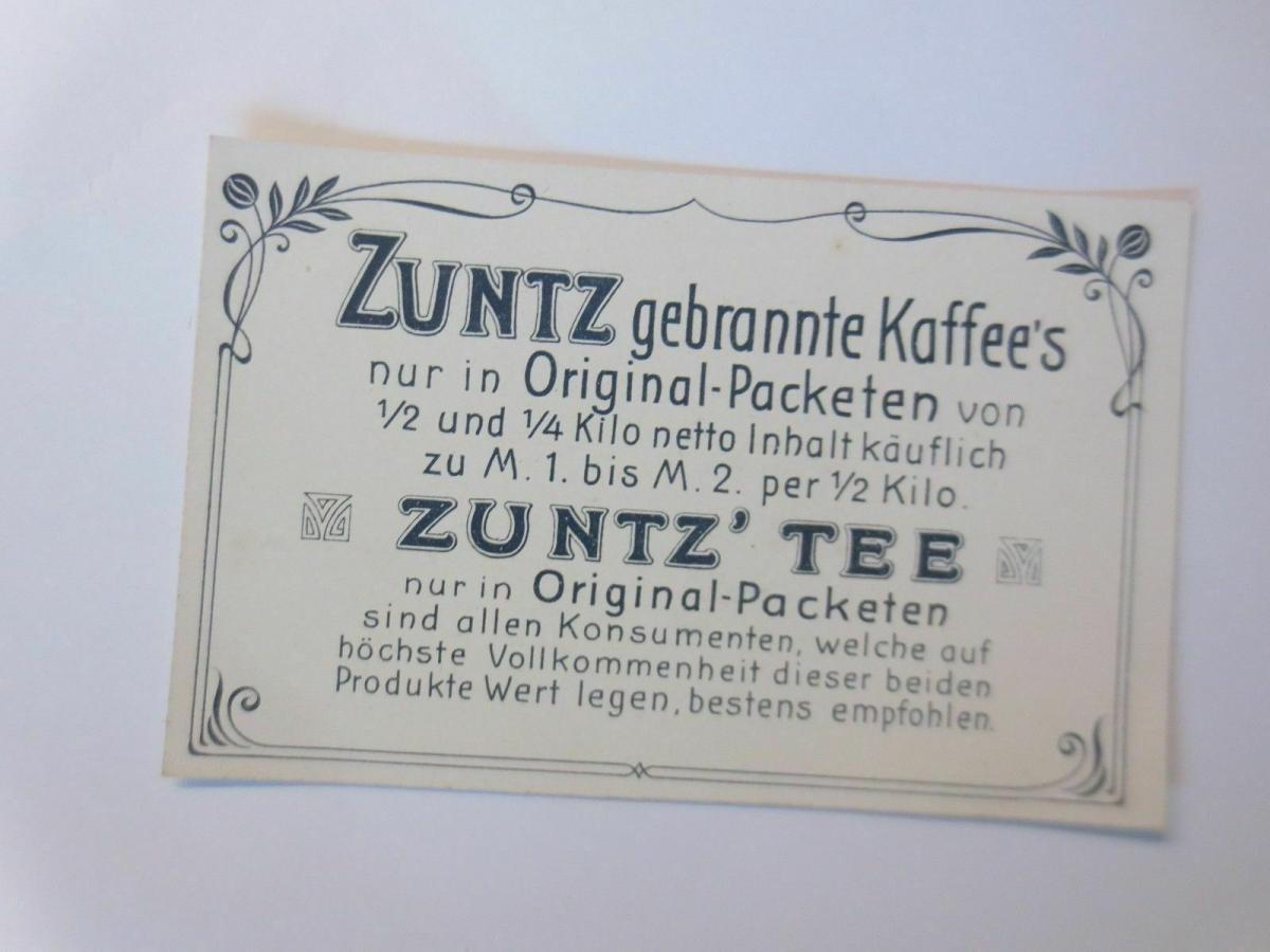 Kaufmannsbilder, A. Zuntz Sel. Kaffee, Tee, Elsass, Bild 1, S.29  ♥ 1