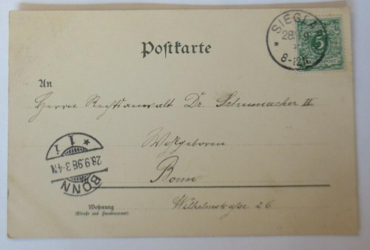 Gruß aus Sieglar, Kinder, Mode,  1898, Verlag H. Beer & Co. Berlin  ♥ (54810) 1