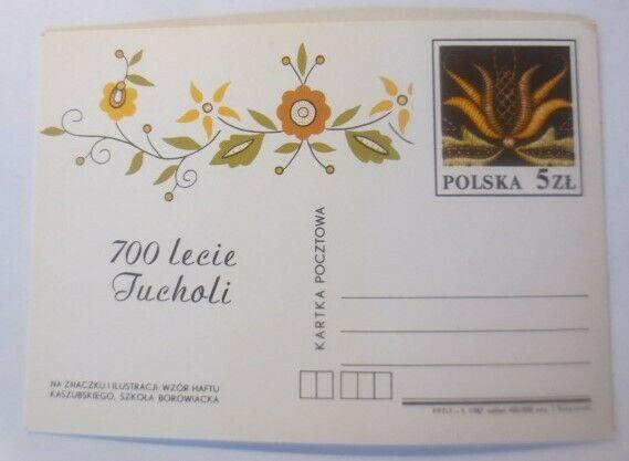 Polen Sonderganzsache Blumenmotiv, 700 Lecie Jucholi  1987 ♥ (71595) 0