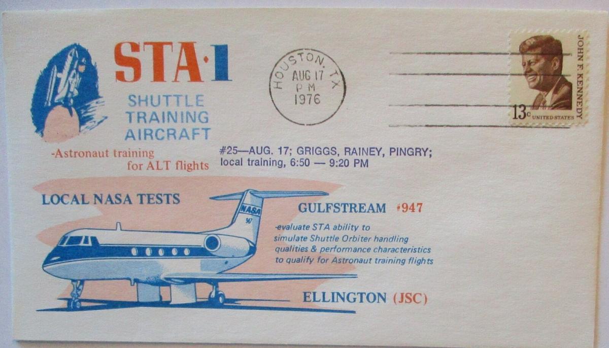 Raumfahrt USA  Space Shuttle Training Aircraft Gulfstream, Griggs, 1976 (21714) 0