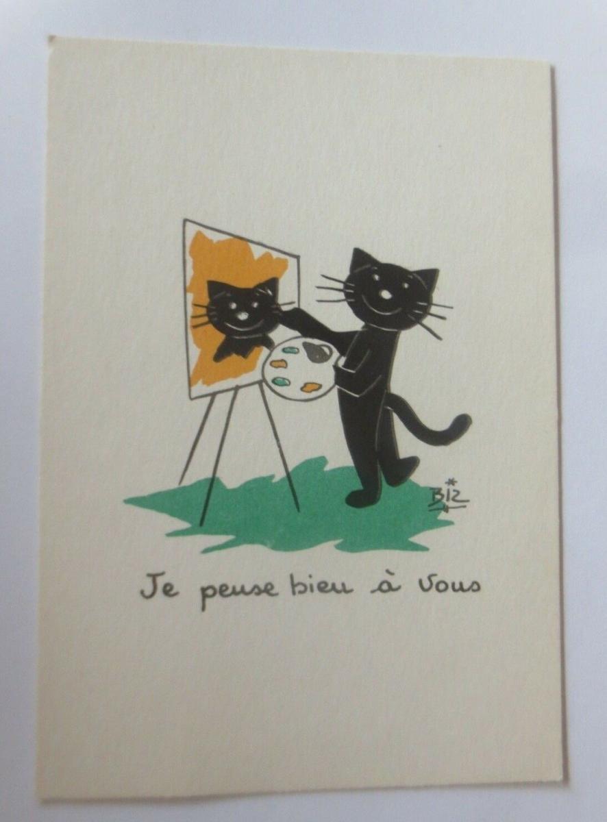 Katzen, Malen,    1945, Biz ♥ (41141) 0
