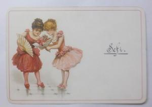 Kaufmannsbild, Kinder, Mode, Fächer,     1900    ♥