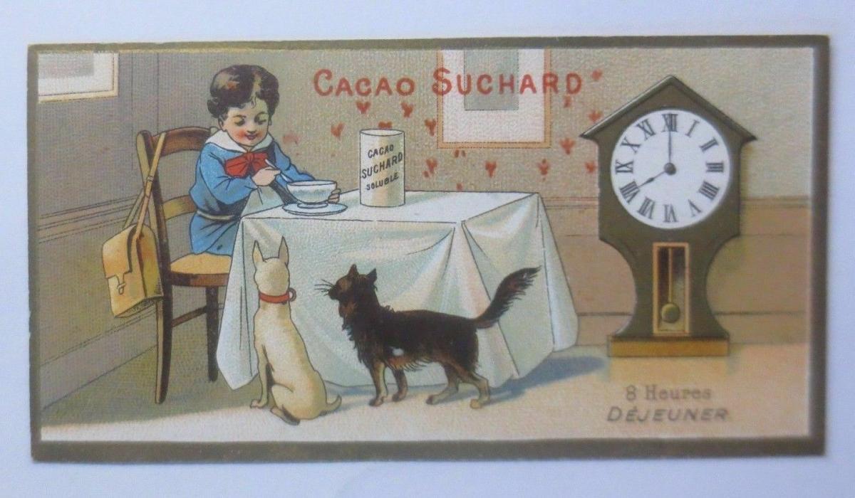 Kaufmannsbilder, Chocolat Suchard, Fabrique Neuchatel, Kinder, Uhr,1910 ♥ 0
