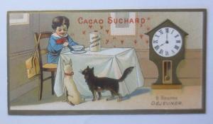 Kaufmannsbilder, Chocolat Suchard, Fabrique Neuchatel, Kinder, Uhr,1910 ♥