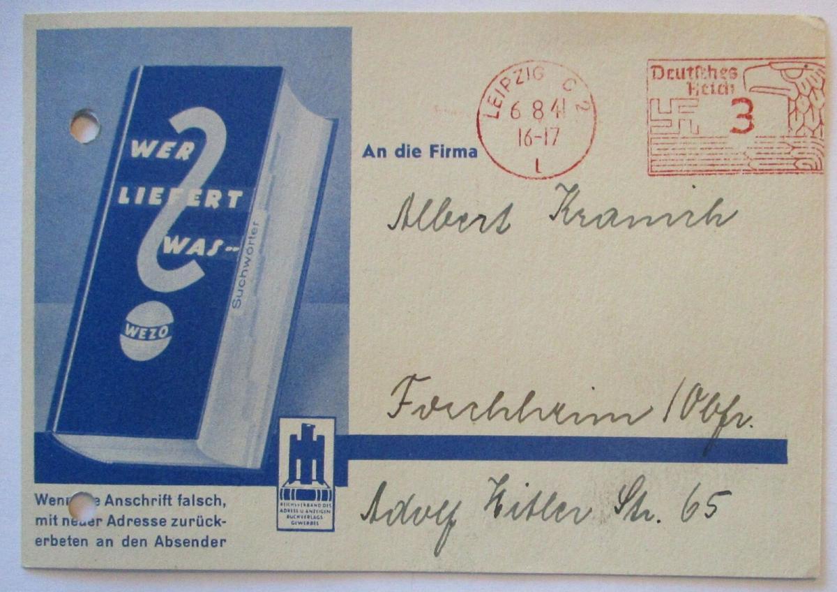Werbung Reklame D.Reich Buchgewerbe Bücher 1941 (9899) 0