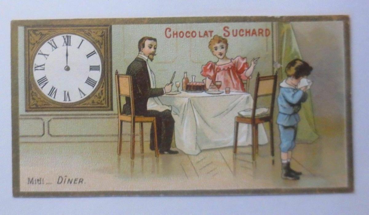Kaufmannsbilder, Chocolat Suchard, Fabrique Neuchatel Mittagessen,1910 ♥ 0
