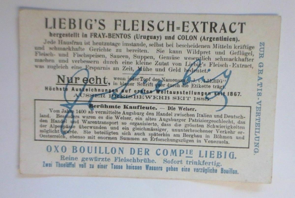 Liebig,Berühmte Kaufleute, Ein Welser´scher Warentransport, Alpen,Bild 2♥ 1