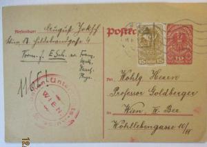 Österreich Wien, Libanon Unterrichts Kurse, Sprache, Ganzsache 1920 (49113)